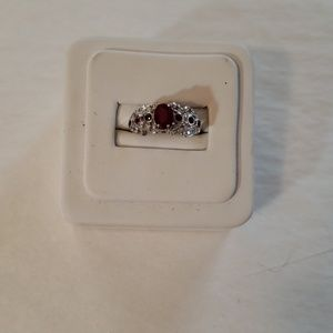 10K WG Ruby Ring